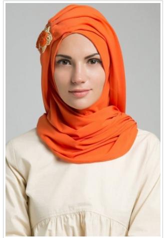 1. jilbab instan