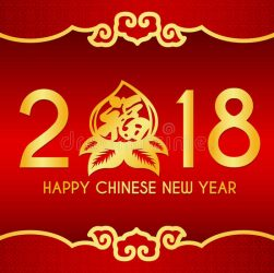 happy-chinese-new-year-card-text-peach-chiness-top-bottom-frame-vector-design-chinese-word-mean-blessing-89819442